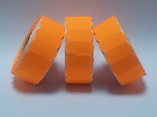 SATO S26& # 26mm x 12mm Prix Étiquettes Pistolet-Orange fluo pelables-30rouleaux/45000étiquettes