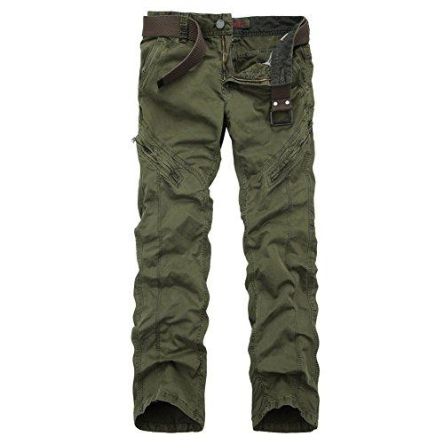 OCHENTA Pantaloni - cargo - Uomo # 3370 Army verde Formato 32