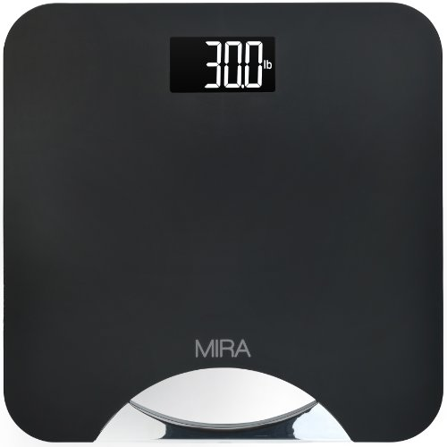 Mira Digital Bathroom Scale With Handle , Large Display, 400 Lb Capacity back-675790