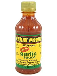 Cajun Power Spicy Garlic All Purpose Sauce 8oz