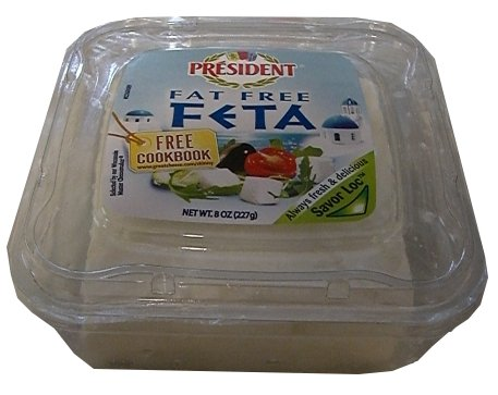 Greek Style Feta Cheese-Fat Free (President) 8oz