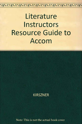 Literature Instructors Resource Guide to Accom