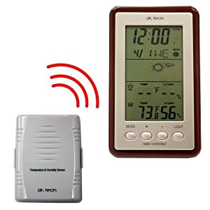 dr. Tech WH-1170T Wireless Advanced Weather Station with Temperature, Weather Forecast, Moon Phase and Humidity