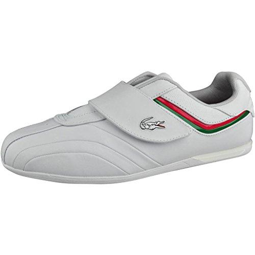 Lacoste Men'S Assen Strap Cr Sneaker,White/Red,11 M Us