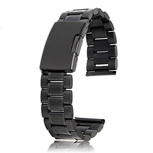 Pixnor 20mm in acciaio inox solidi legami Bracciale Watch Band Strap estremità diritta con 2pcs orologio perni molla bar