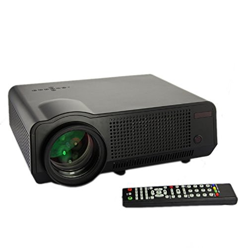 Hamswan Led 86 Video Projector 1080P 1280 * 768 2800 Lumens 2 * Usb 2 * Hdmi Vga Ypbpr Multimedia Compatible Home Cinema