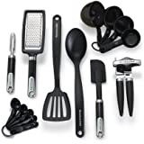 KitchenAid Classic 15-Piece Tools and Gadget Set, Black