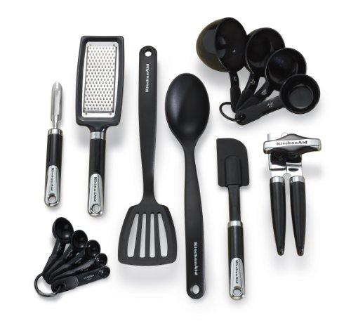 KitchenAid 15-Piece Tools and Gadget Set, Black (Kitchenaid Peeler Set compare prices)