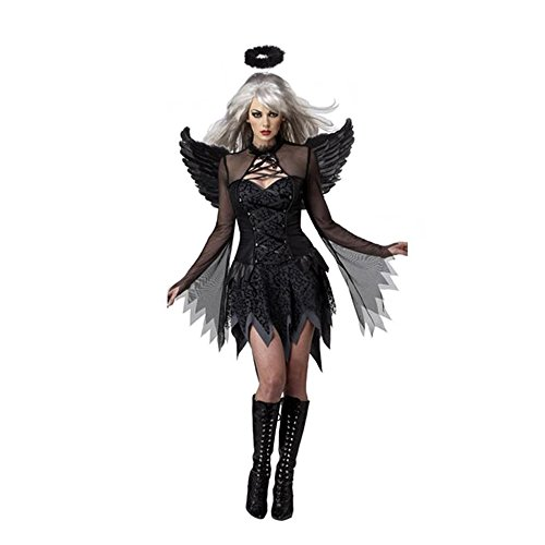 Sexy Women's Dark Angel Costume Fancy Dress Night Party Accessories