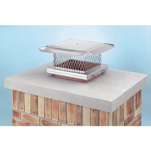 Buy Chimney 14607 13 x 13 Inch HomeSaver Pro Stainless Steel Chimney Cap 304-alloy 18-ga. Base and M...