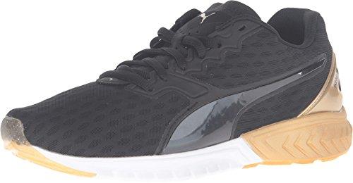 PUMA Women's Ignite Dual Gold Puma Black/Gold Sneaker 12 B (M)