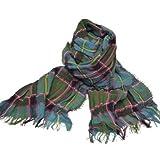 英国王室御用達 Lochcarron of scotland ロキャロン英国スコットランド製 タータンチェック柄シャーリング薄手 春ストール マフラー(全9色)