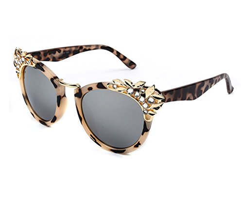 Heartisan Inlaid Crystal Cat Eye Personalized Sunglasses for Womens C3 (Fifties Cat Eye Rhinestone Glasses)