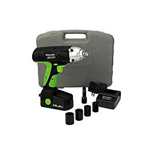 Kawasaki 840223 Black 19.2-Volt Impact Wrench Kit