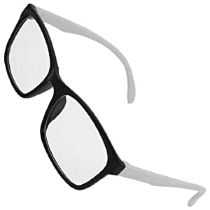 Ladies Black Frame Glasses : Amazon.com: Ladies Black Frame White Arm Full Rim ...