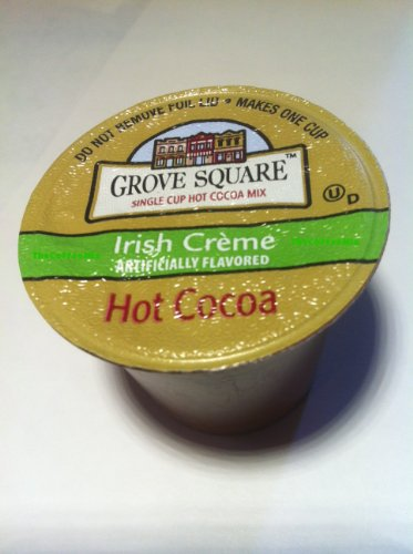 NEW! 12 Grove Square Irish Creme Hot Cocoa K-cups! YUMMY!