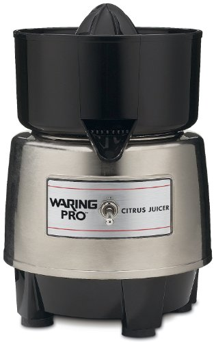 Waring PCJ218 Citrus Juicer, Stainless Steel