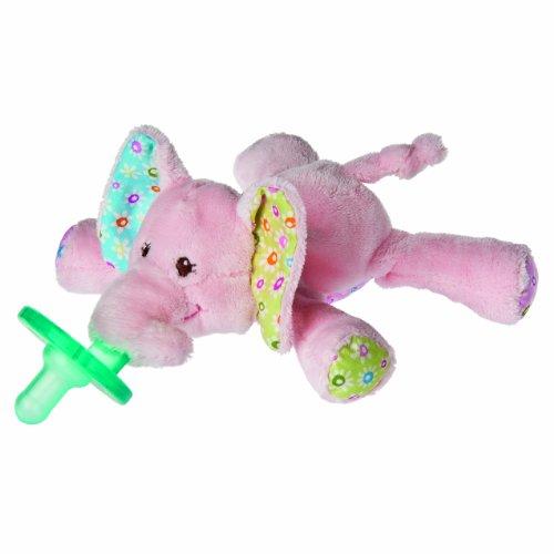 WubbaNub 赤ちゃんのぜいたくおしゃぶり ピンクのぞうさん