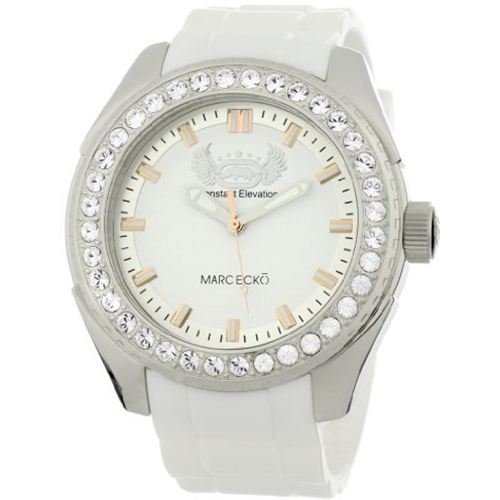 Marc Ecko Men's E12586G1 The Grandee White Resin Strap Watch