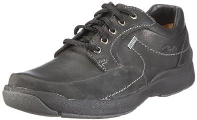Clarks Stream Jet GTX 203466717, Chaussures basses homme - Noir (Noir), 48 EU