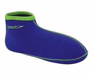 Speedo Neo Fin Socks,BLUE w/ Green Trim,Medium