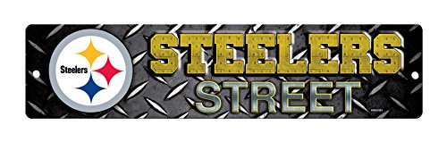 NFL Pittsburgh Steelers High-Res Plastic Street Sign (Steelers Merchandise Under $12 compare prices)