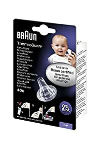 Braun LF40 Lens Filters for ThermoScan Ear Thermometers - Pack of 40