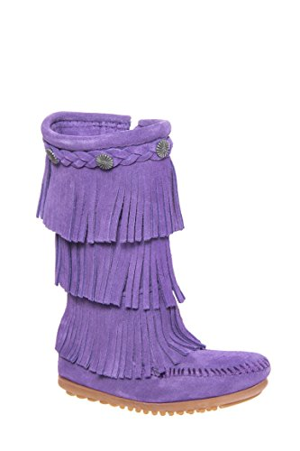 Girl's 3 Layer Fringe Moccasin Boot