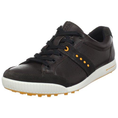 ECCO GOLF STREET HERREN GOLFSCHUHE LICORICE/COFFEE/FANTA Schuhgröße: 39
