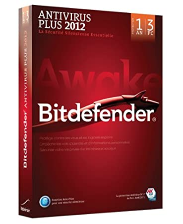 Bitdefender Antivirus Plus 2012 (3 postes, 1 an)