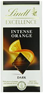Lindt Excellence Intense Orange Dark Chocolate Bar, 3.5-Ounce Packages (Pack of 12)