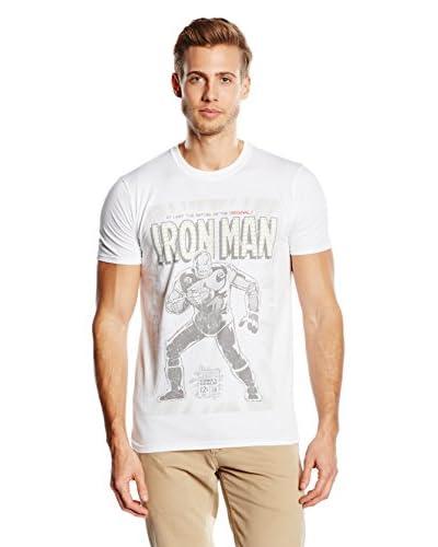 Marvel T-Shirt Manica Corta Original Iron Man [Bianco]