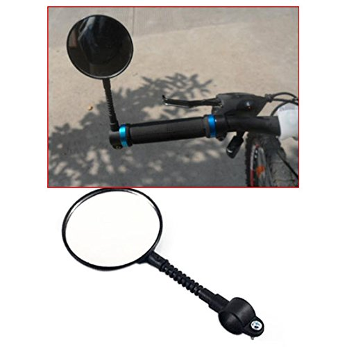 Flexible Bike Bicycle Handlebar Glass Rear View Cycling Cycl