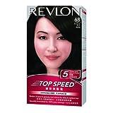 Revlon Top Speed Hair Color Woman, Brownish Black 68