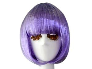 Fashion Cosplay Party Halloween Christmas Short Straight Hair Wigs Light Purple