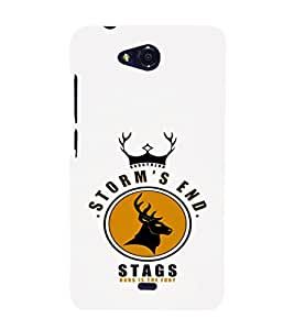 EPICCASE Storm's end stag Mobile Back Case Cover For Micromax Canvas Play Q355 (Designer Case)