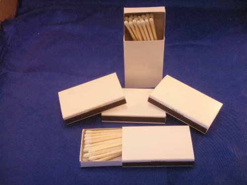 50 Plain White Cover Wooden Matches Box Matches