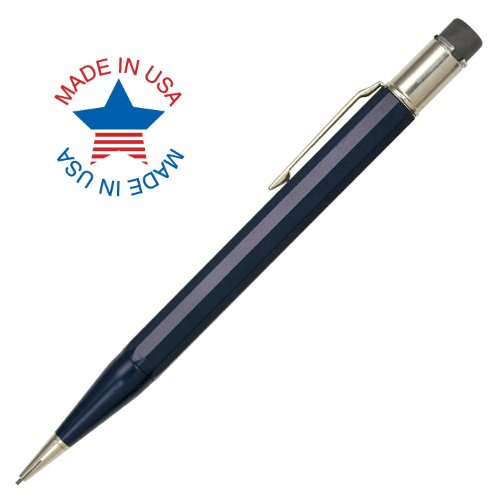 Autopoint® Jumbo All-American® Pencil, 0.9Mm Tip, Paneled Barrel, Dark Blue, American Made (30010Db)
