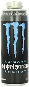 Mega Monster Energy Drink, Lo-Carb, 24-Ounce Cans (Pack of 12)