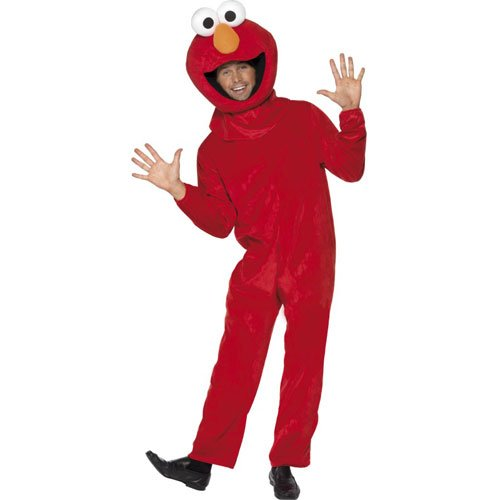 Smiffy's Official Sesame Street Elmo Costume with Jumpsuit and Head Piece