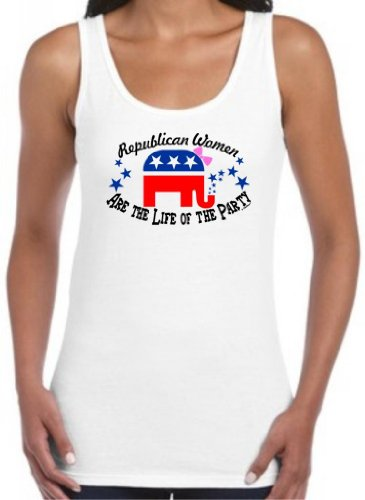 Republican Women Are The Life Of The Party Juniors Tank Top Medium White