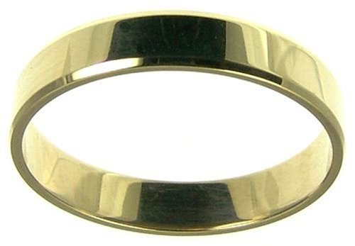 Ladies' Wedding Ring, 9 Carat Yellow Gold Flat Shape, 4mm Band Width