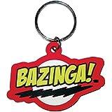 Big Bang Theory Bazinga Logo Rubber Keychain