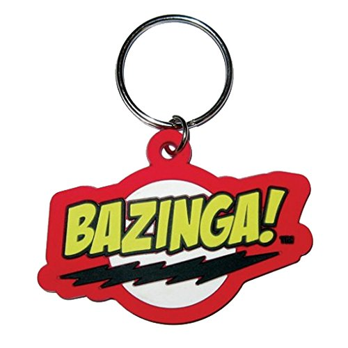 The Big Bang Theory Rubber Portachiavi Bazinga 6 cm Pyramid International