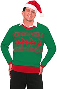 Forum Novelties Men's Reindeer Games Novelty Christmas Sweater from Forum Novelties Costumes