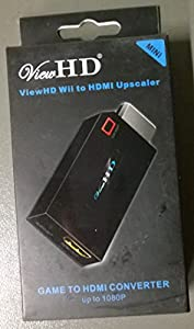 ViewHD Wii to HDMI 720P / 1080P HD Output Upscaling Converter (Black)