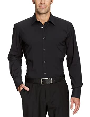 SELECTED HOMME Herren Freizeithemd Slim Fit 16016343 One Peter Canbera shirt ls (Weitere Farben) Schwarz (Black) XS