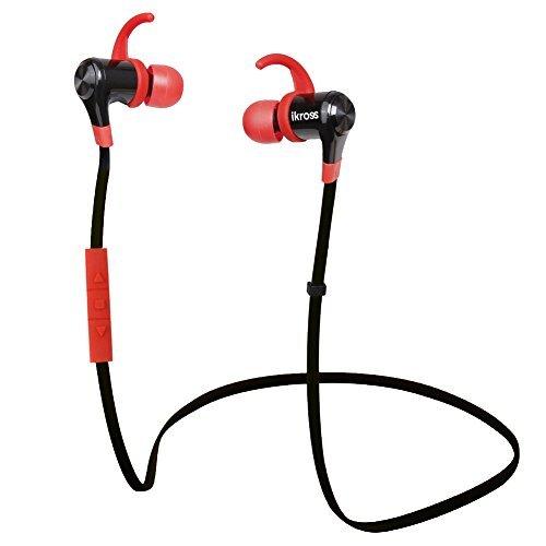 IKross A2DP Sport Bluetooth 4.0 Headphones Headset With Microphone - Black