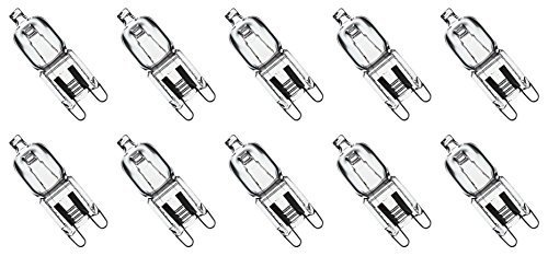 12Vmonster ® * 10 Pack * CLEAR LENSE G9 25W 120 volt halogen light bulbs JCD type 110v 130v lamp 25w t4 g9 120V LONG LIFETIME (Halogen Oven Light Bulb compare prices)