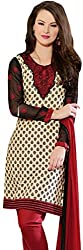 Tangerines Tfw White Color Unstitched Salwar Kameez Dress Material